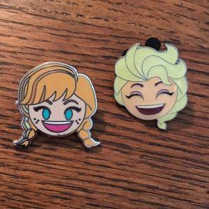 Anna and Elsa Disney Trading Pins Frozen